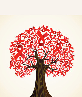 AIDS ribbon tree